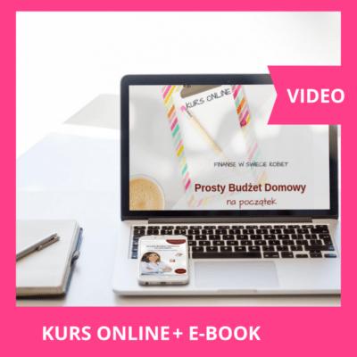 Zestaw - Kurs online Prosty Budżet Domowy na początek + ebook