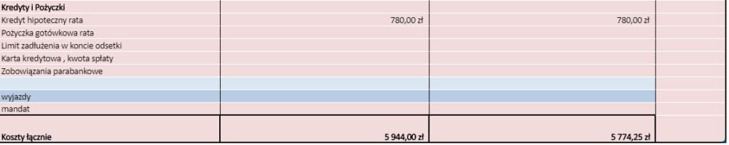 budżet domowy 2020